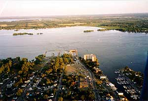 Belleville Harbour from the RE/MAX Balloon 2