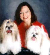 Debra with Toto and Tara